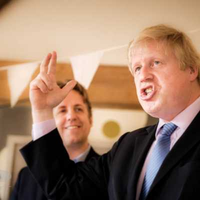 Boris Johnson At The Monks Yard Somerset