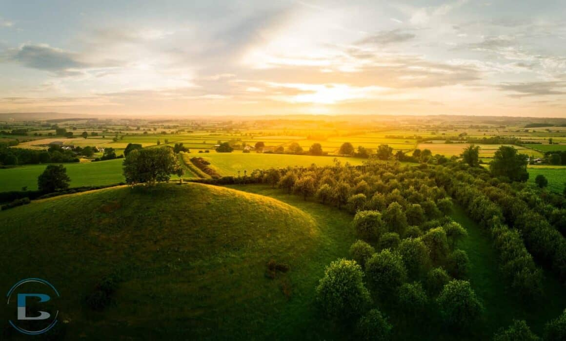 Somerset-photographer-aerial-photograph-burrow-hill