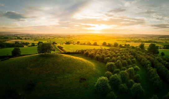 Aerial-landscape-burrow-hill-south-somerset