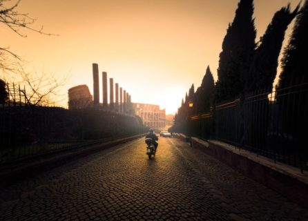 World-travel-photography-scooter-colosseum-rome